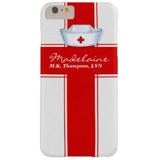 Nurses Hat in Red and White Custom Barely There iPhone 6 Plus Case