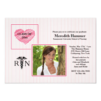 Nurses Have Big Hearts Photo Graduation Invitation