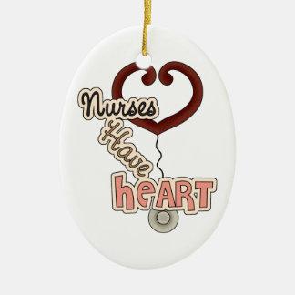 Nurses Have Heart Ceramic Oval Decoration