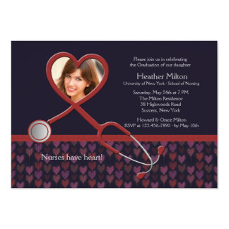Nurses Have Heart Photo Graduation Invitation