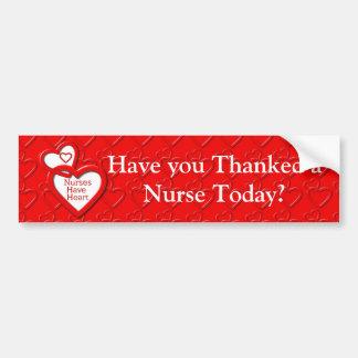 Nurses Have Heart Red Hearts Bumper Sticker