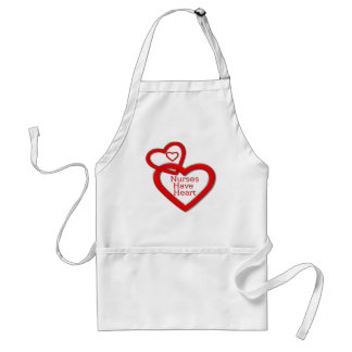 Nurses Have Heart Red Hearts Standard Apron