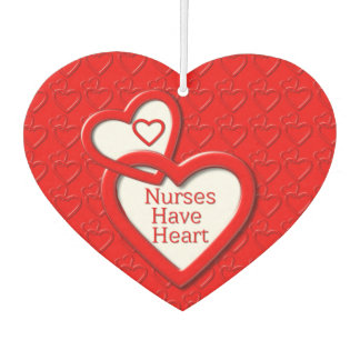 Nurses Have Heart Red Linked Hearts Nurses Day Car Air Freshener