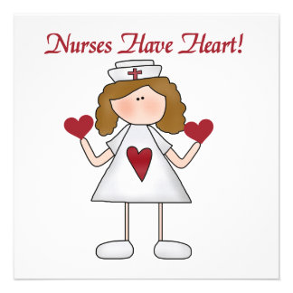 Nurses Have Heart T-shirts and Gifts Custom Announcements