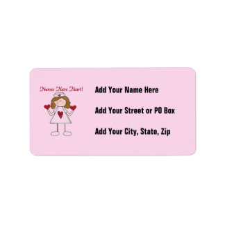 Nurses Have Heart T-shirts and Gifts Address Label