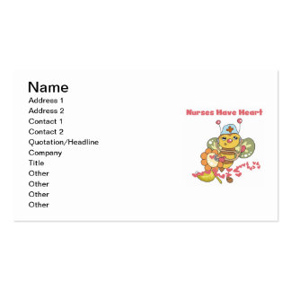 Nurses Have Heart T-shirts and Gifts Pack Of Standard Business Cards