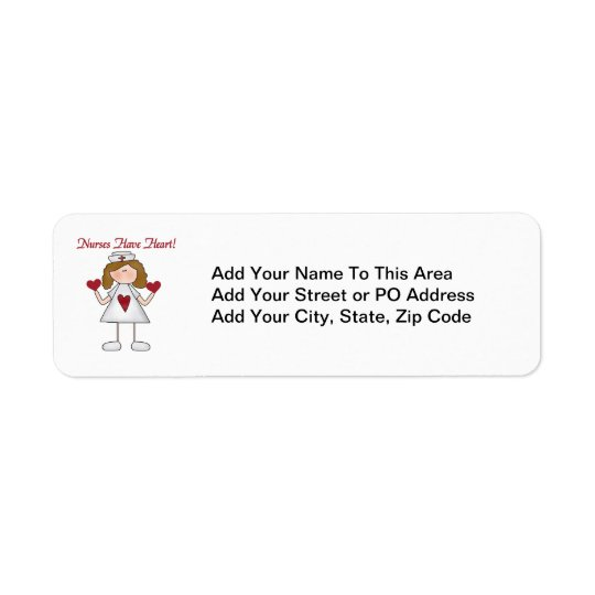 Nurses Have Heart T-shirts and Gifts Return Address Label