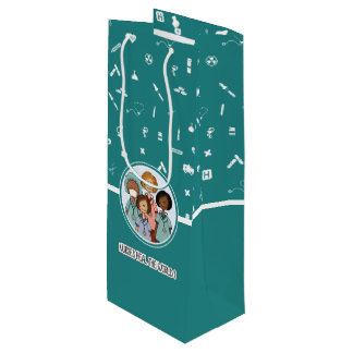 Nurses Heal the World. Custom Gift Wine Paper Bags