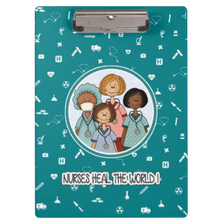 Nurses Heal the World Gift Clipboards