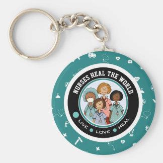 Nurses Heal the World. Gift Keychains
