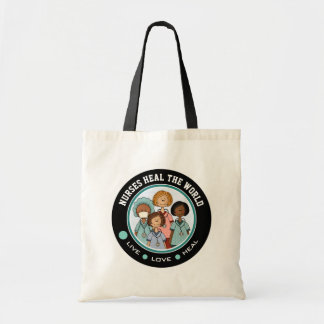 Nurses Heal the World. Gift Nurse Tote Bags