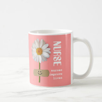 Nurses improve lives. Smiling Daisy Gift Mugs