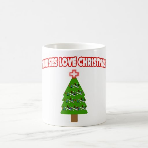 Nurses Love Christmas Coffee Mug