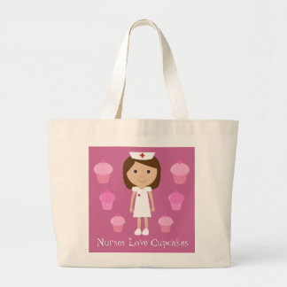Nurses Love Cupcakes Cute Customizable Pink Bags