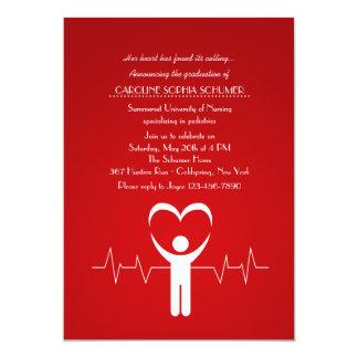 Nurse's Loving Hands Nursing School Graduation Inv 13 Cm X 18 Cm Invitation Card