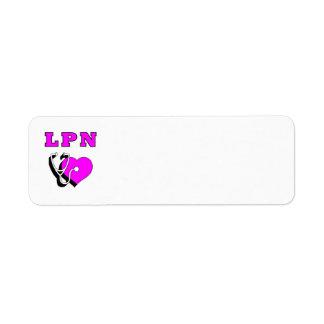 Nurses LPN Care Return Address Label