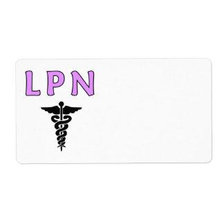 Nurses LPN Medical Shipping Label