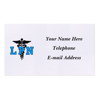 Nurses LPN Medical Symbol Pack Of Standard Business Cards
