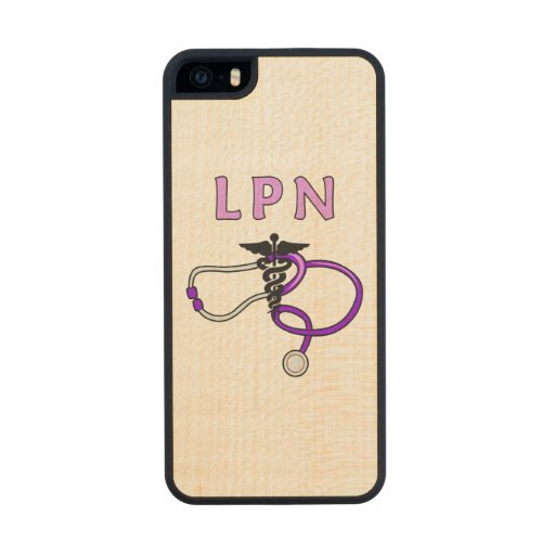 Nurses LPN Stethoscope Carved® Maple iPhone 5 Case