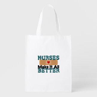 Nurses Make It All Better Reusable Grocery Bag