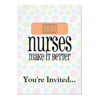 Nurses Make it Better, Bandage 13 Cm X 18 Cm Invitation Card
