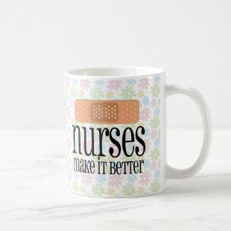 Nurses Make it Better, Bandage Basic White Mug