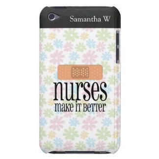 Nurses Make it Better, Bandage iPod Case-Mate Case