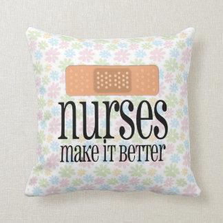 Nurses Make it Better, Bandage Throw Pillow