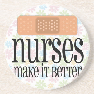Nurses Make it Better, Bandage Drink Coasters
