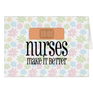 Nurses Make it Better, Bandage Greeting Card