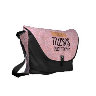 Nurses Make it Better, Bandage Messenger Bags