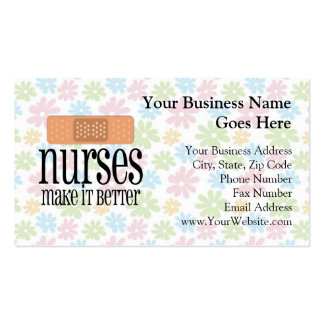 Nurses Make it Better, Bandage Pack Of Standard Business Cards