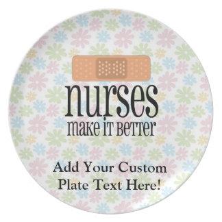 Nurses Make it Better, Bandage Dinner Plate