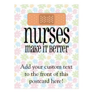 Nurses Make it Better, Bandage Postcard