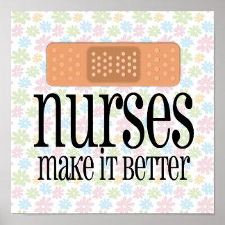 Nurses Make it Better Bandage Print