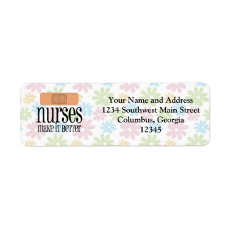 Nurses Make it Better, Bandage Return Address Label