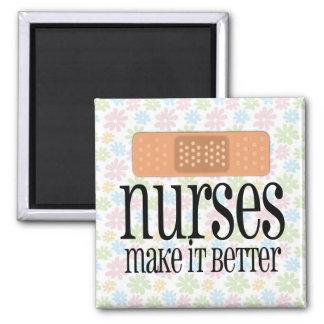 Nurses Make it Better, Bandage Square Magnet