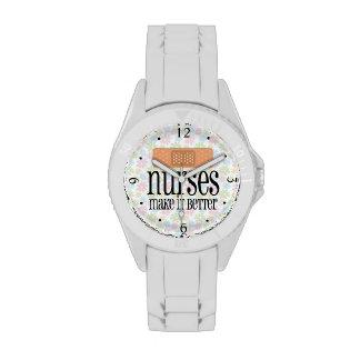 Nurses Make it Better, Cute Nurse Bandage Wristwatch