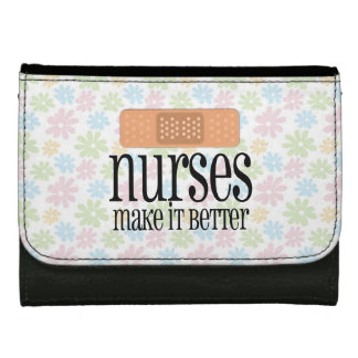 Nurses Make it Better, Cute Nurse Bandage Wallets