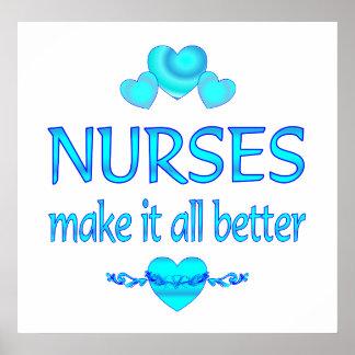 Nurses Make it Better Posters