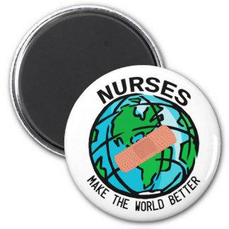 Nurses Make The World Better Magnet