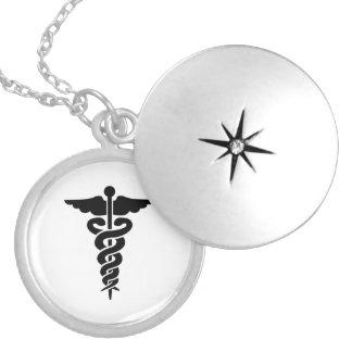Nurses Medical Symbol Caduceus Locket Necklace