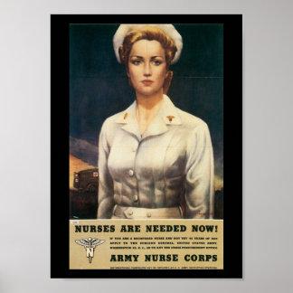 Nurses Needed World War II Posters