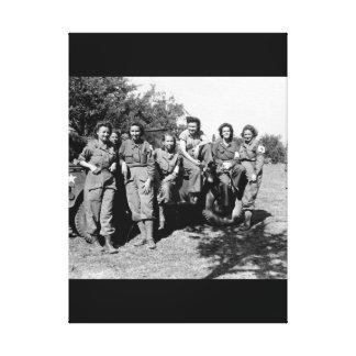 Nurses of a field hospital who arrived_War Image Canvas Print
