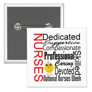 Nurses Recognition Collage:  National Nurses Week 15 Cm Square Badge