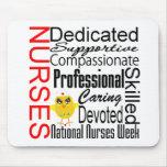 Nurses Recognition Collage:  National Nurses Week Mouse Pad