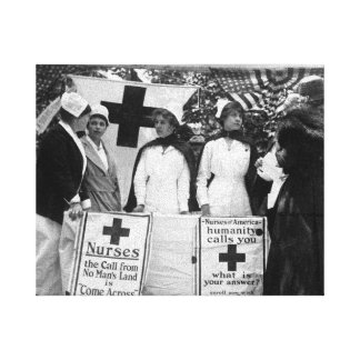 Nurses Recruiting Station World War One Gallery Wrapped Canvas