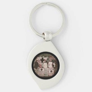 Nurses Recruitment Silver-Colored Swirl Key Ring
