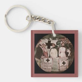 Nurses Recruitment Single-Sided Square Acrylic Key Ring