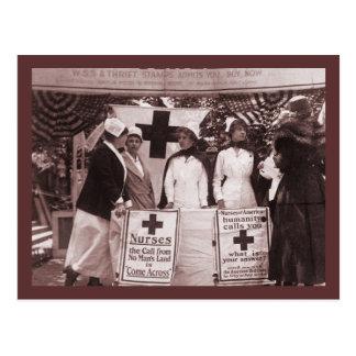 Nurses Recruitment Station WWI Postcard